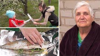 Рецепт СКУМБРИИ на мангале и бабушка про то кто такой блогер?