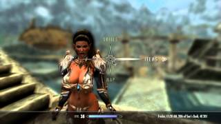Repeat youtube video Skyrim Mods: Tera Armor Collection, Axestaff Weapons, CHSBHC Body