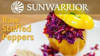 Raw Vegan Stuffed Peppers Recipe | Jason Wrobel | Sunwarrior