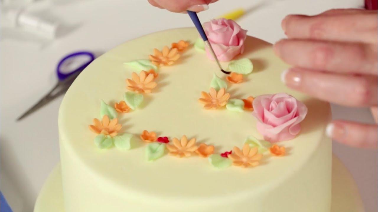 Grundkurs Torten dekorieren mit Fondant  Anleitung Intro  YouTube
