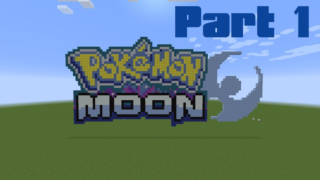 How to make the pokemon moon logo in minecraft part 1 - Pokemon logo minecraft ...
