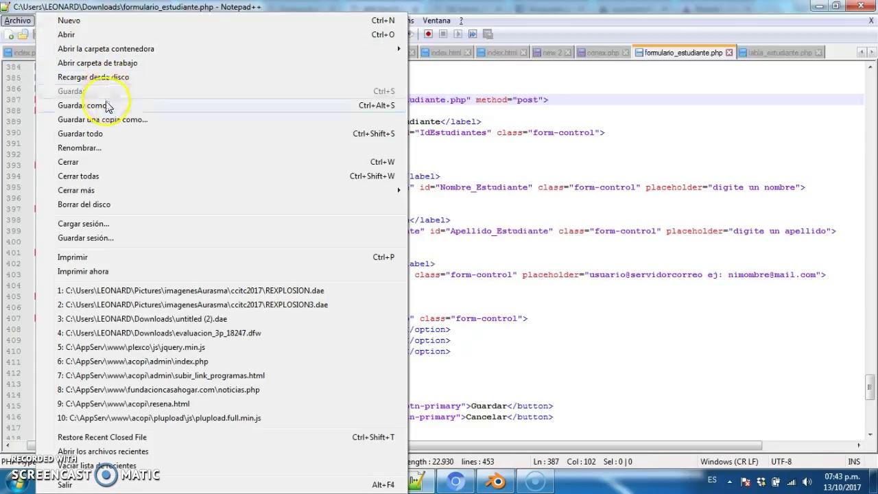Boostrap,PHP, Mysql Parte 5 , formularios Plantilla SBAdmin2 - YouTube