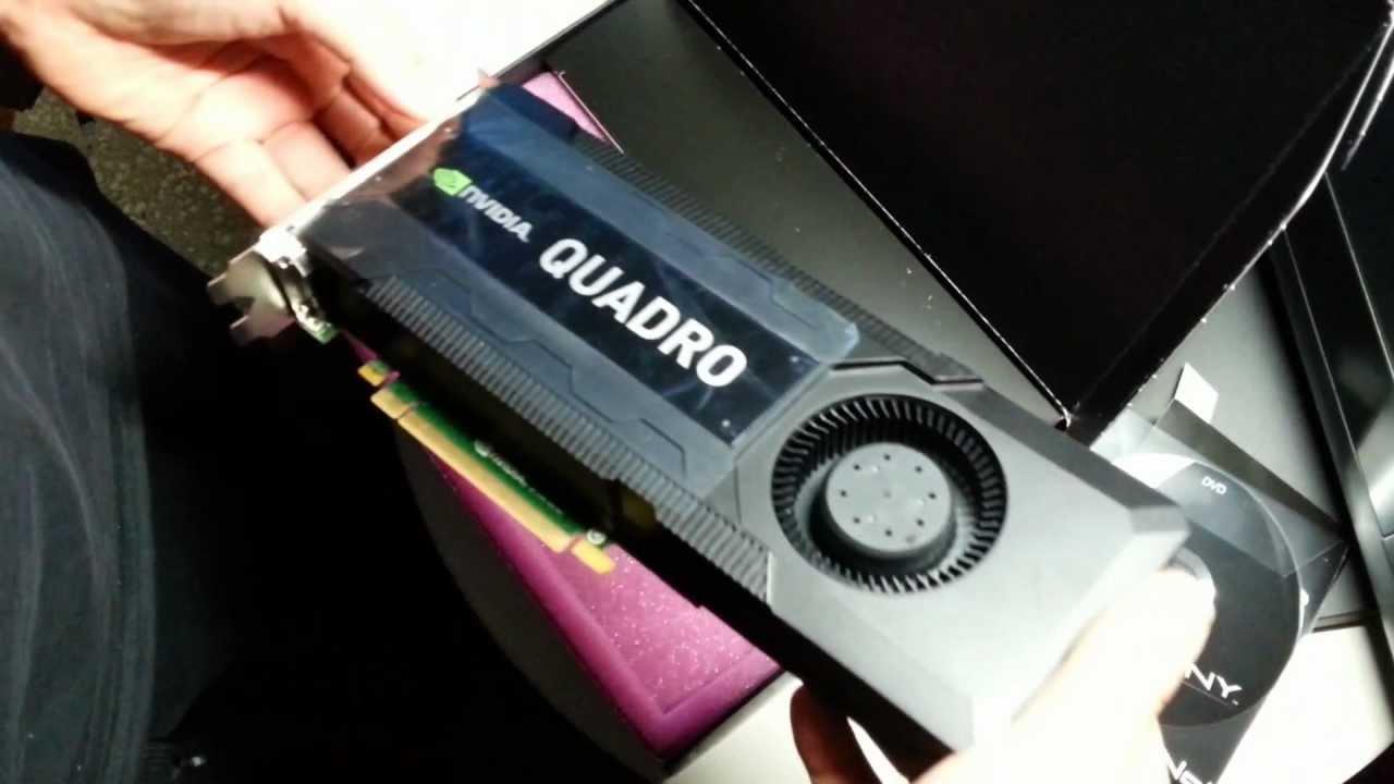 nVidia Quadro K5000 unboxing