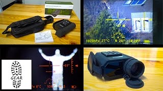 """Tech: IR-Nachtsichtgerät + Entfernungsmesser """"LRNV009"""" von Kinglux"""