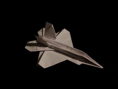 F-22 Raptor paper airplane