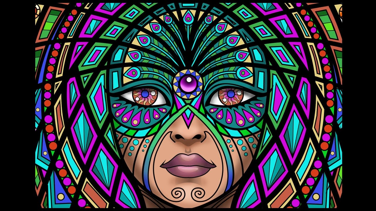 Lost Lumina 13 Timelapse Coloring Book Speed Art By Cristina McAllister