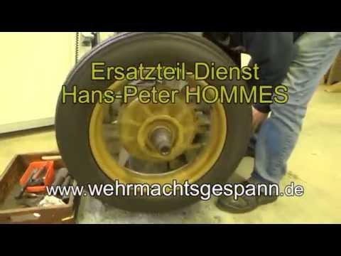 Berühmt Zündapp KS 750 + BMW R75 Bremstrommel ausdrehen - YouTube &JL_23