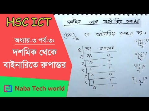HSC ICT Tutorial Chapter-3 Part-3: Decimal to Binary Conversion