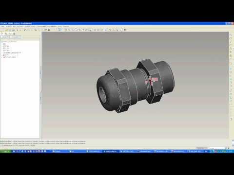 Pro/Engineer WF3: Cabling подготовка компонента: создание порта ввода кабеля и точки прохода