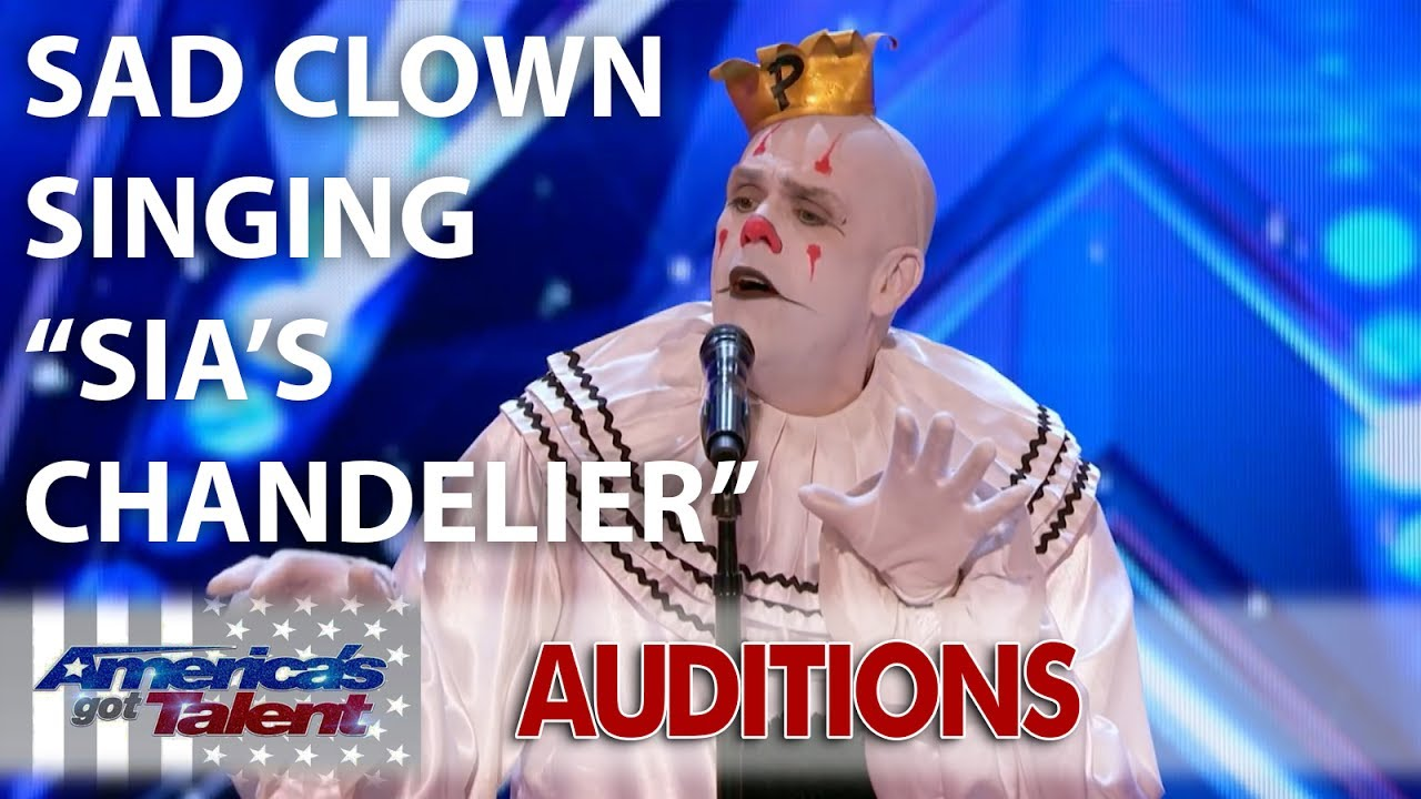 Puddles Pity Party Sad Clown Singing Sia\'s Chandelier | America\'s ...