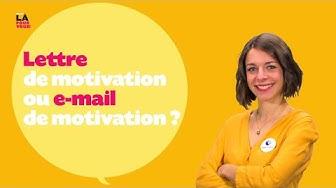 On est là pour vous ! #10 - Lettre ou e-mail de motivation ?