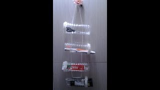 DIY Wall Hanging Multipurpose Bathroom Organizer ll Smart Money Saving Creative Re use idea