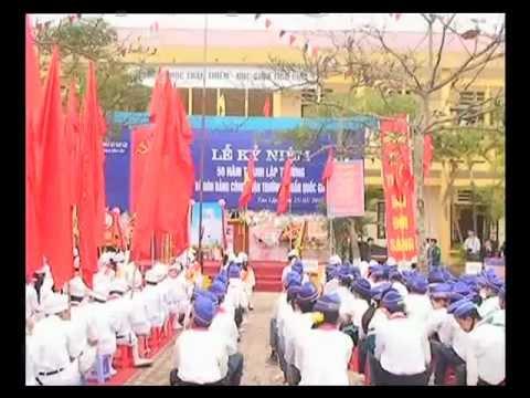 Tin về lễ kỷ niệm 50 năm thành lập trường THCS Tân Lập.avi