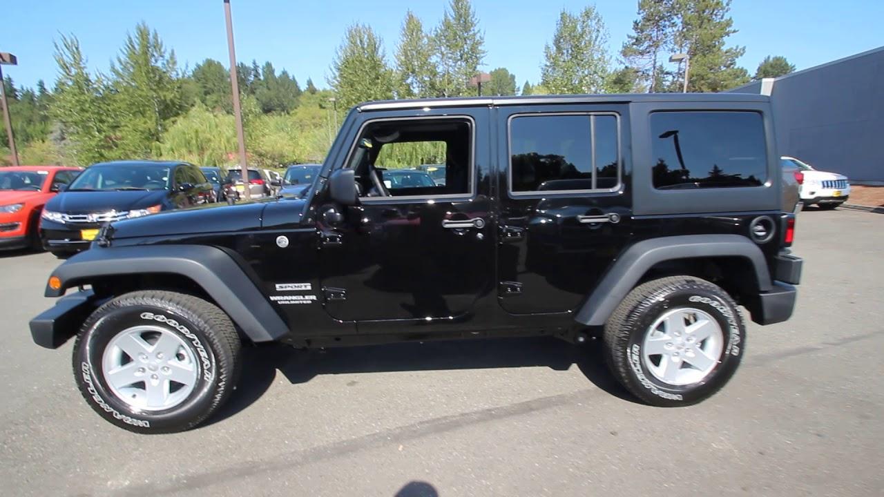 2017 Jeep Wrangler Unlimited Sport Black