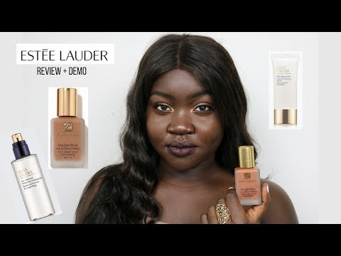Estee Lauder Double Wear Foundation Review | Deepest Shades...
