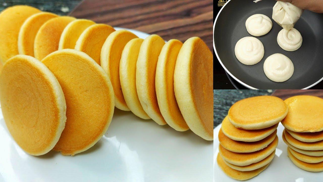 মুখে দিলেই মিলিয়ে যাবে তুলার মত তুলতুলে প্যান কেক রেসিপি   Pancake Recipe Bangla   Easy Pan cake