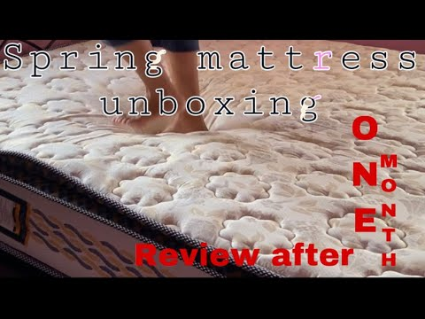 Spring mattress unboxing | Spring mattress review after one month | Centuary endurance pro