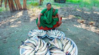 Calbasu and Carp Fish Cooking for Kids by Village Food Life
