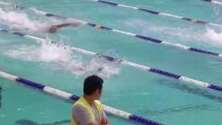 張振興 2013-2014 D2 學界 校際游泳比賽  男子甲組4 X 50米自由泳決賽【張振興伉儷書院】「第一線」(第6名)