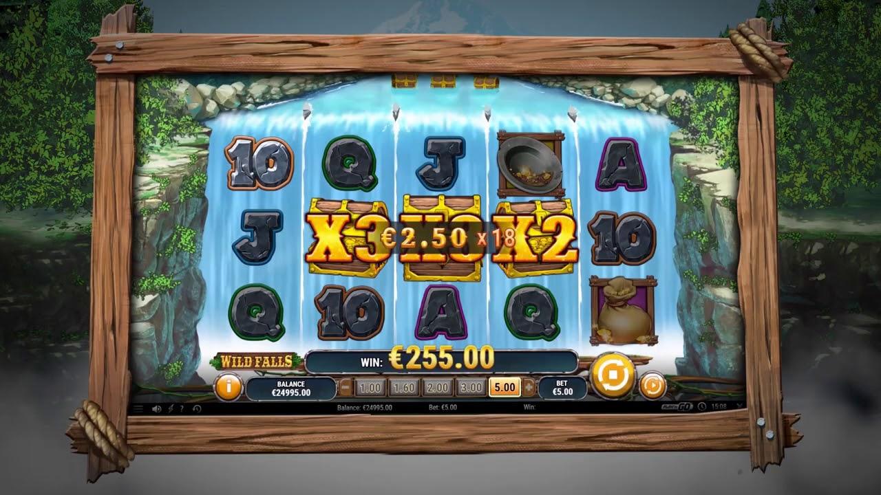 Промо видео!!  Wild Falls Slot Online Play'n GO