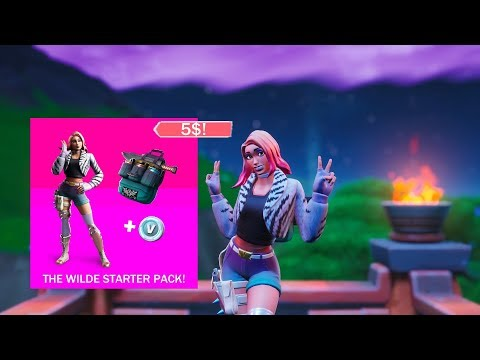 THE NEW STARTER PACK!! (Wilde Outfit) (Fortnite: Battle Royale)
