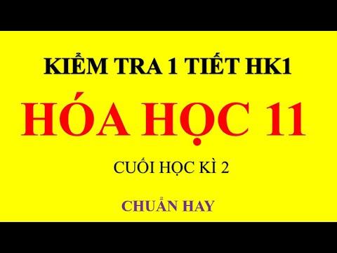 HÓA HỌC 11  KIỂM TRA HÓA 11 HK1 NITƠ PHOTPHO. ĐỀ CHÍNH THỨC