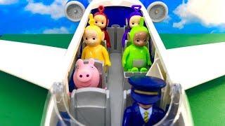 Teletubisie po Polsku ♦ Bajka dla dzieci ♦ Awaria samolotu