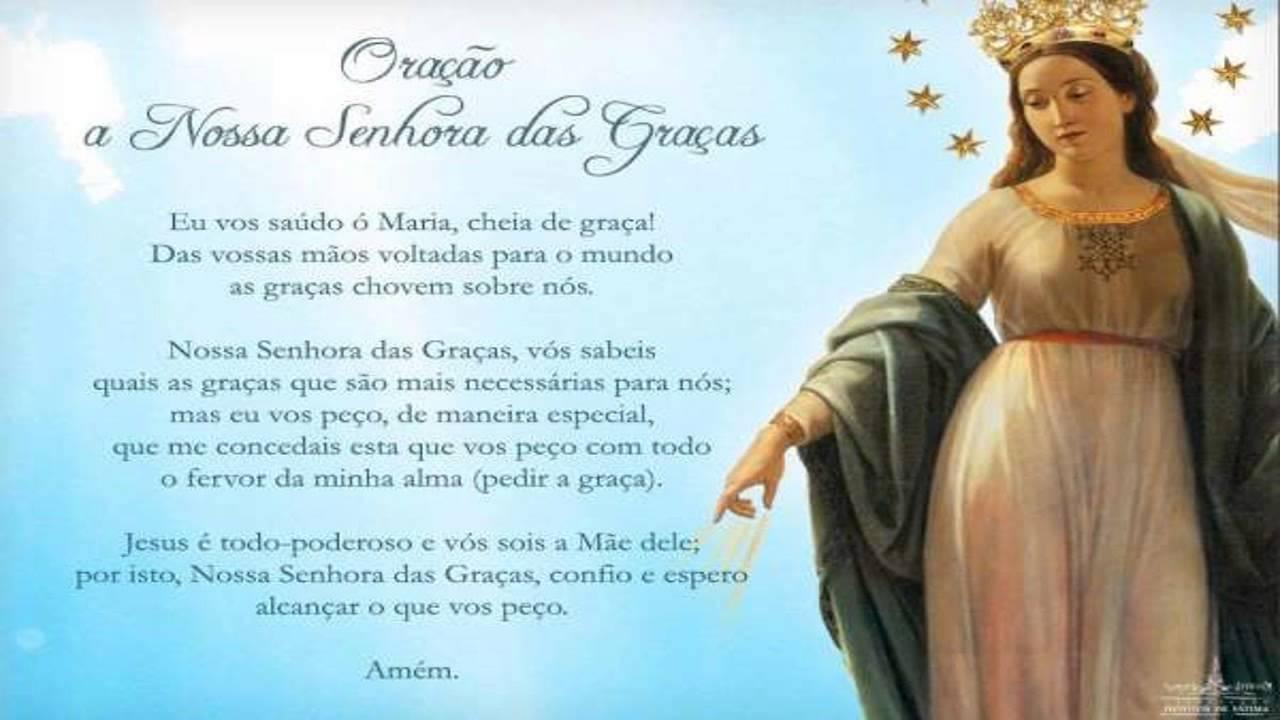 Oração A Nossa Senhora Das Graças Youtube
