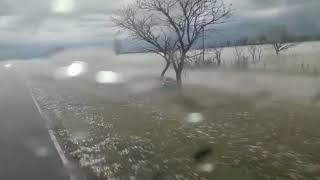 Tormenta, vento e granizo causam estragos no Paraguai