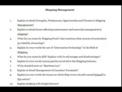 Explain in detail Strengths, Weaknesses, Opportunities and Threats in Shipping