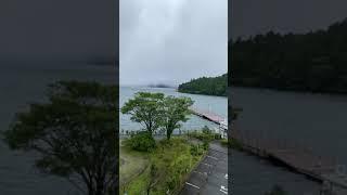 비 내리는 하코네 아시노코 호수 그리고 아침 조깅