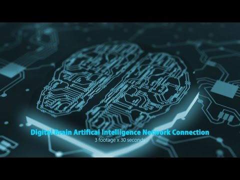 Digital Brain Artificial Intelligence Network Connection footage