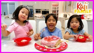 Emma and Kate Bake Surprise Valentine's Day Cake for Ryan!!!