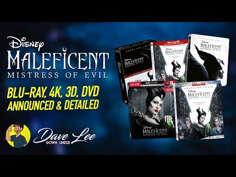 MALEFICENT: MISTRESS OF EVIL - Blu-ray, 4K, 3D, DVD Announced & Detailed