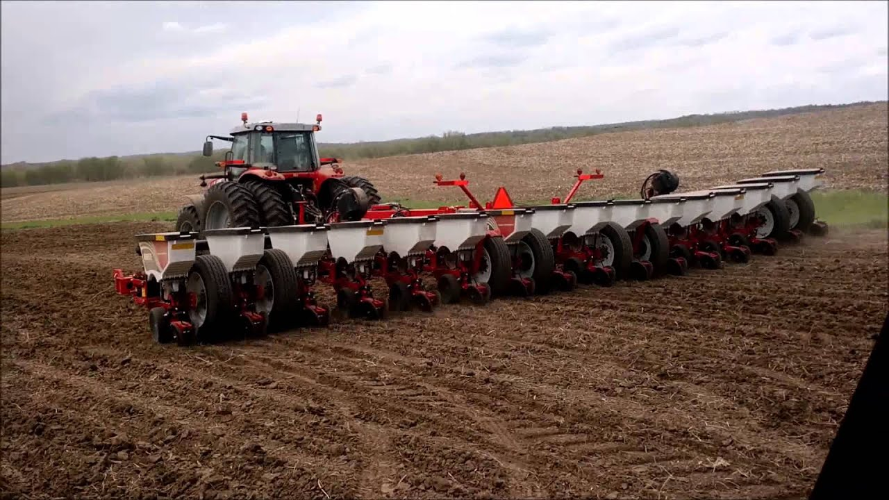 White Planter & Massey Ferguson Tractor - YouTube