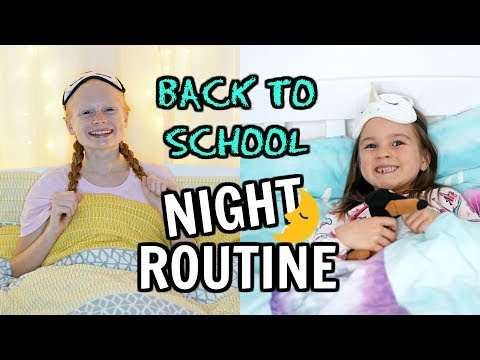 BACK TO SCHOOL Night Time Routine ✏️🍎