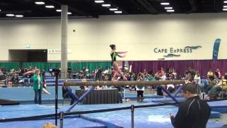 Erin Elkabchi SCEGA Level 10 Beam Optional Elite Qualifier San Diego California March 2014