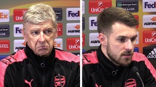 Arsene Wenger & Aaron Ramsey Pre-Match Press Conference - Arsenal v AC Milan - Europa League