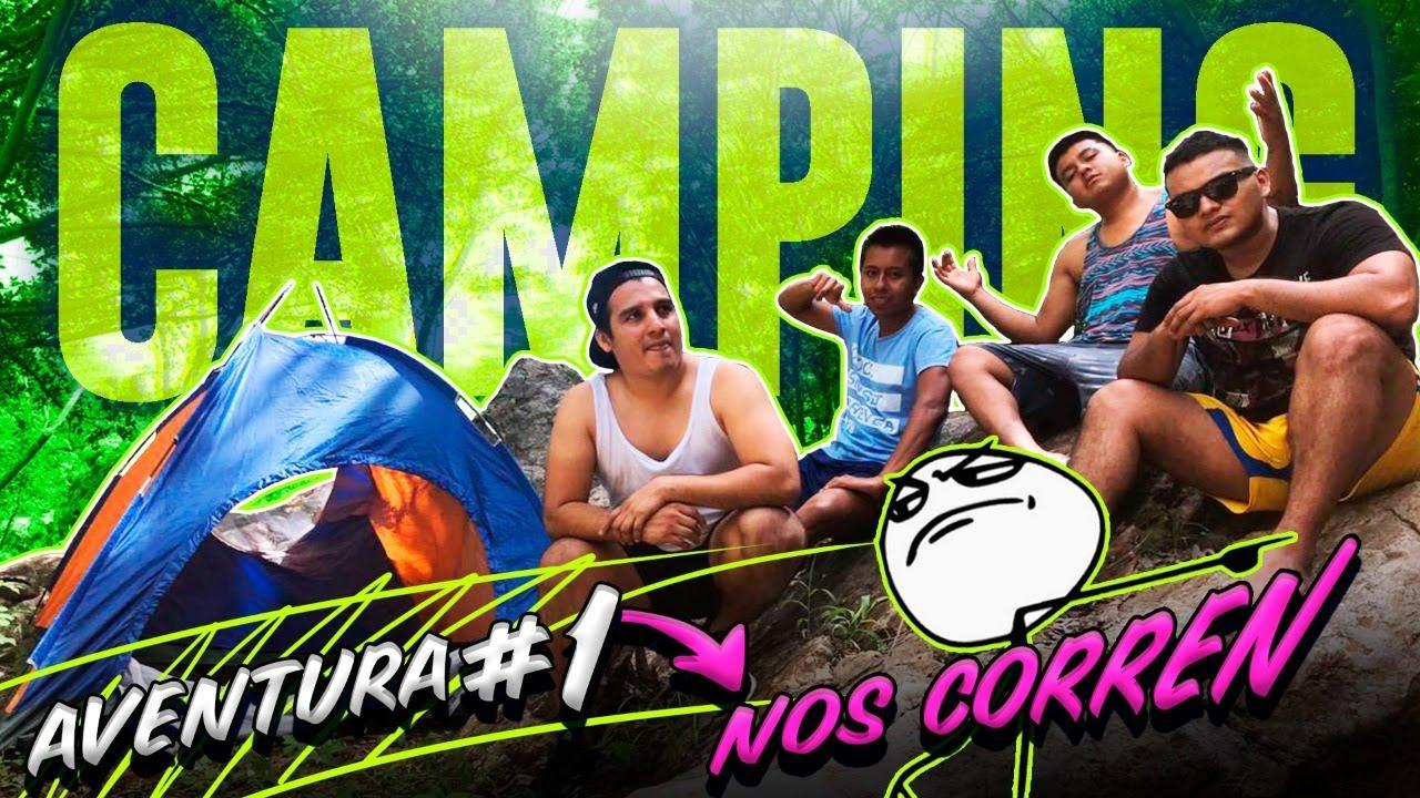 Aventura#1 CAMPING (nos corren)😧🎣🏕️