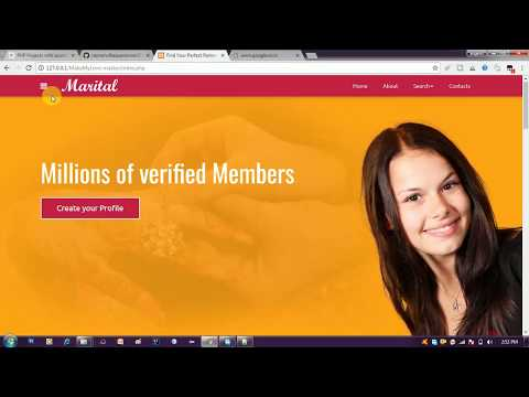 Online matrimonial system project in php