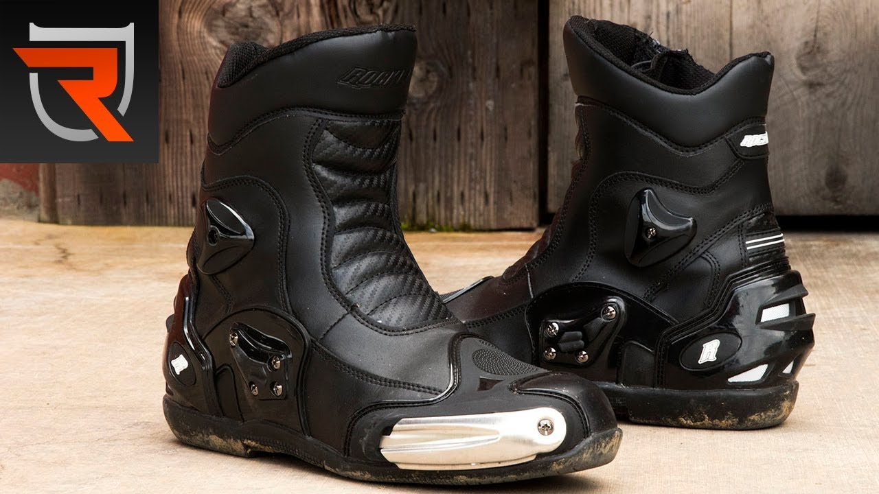 bd5f19eee3a07 Joe Rocket Superstreet Motorcycle Boots Review Video | Riders Domain ...