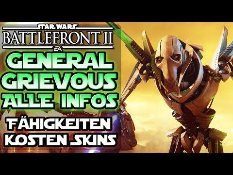 Alle Infos zu General Grievous! - Fähigkeiten Kosten Skins Emotes & mehr! Star Wars Battlefront 2 thumbnail