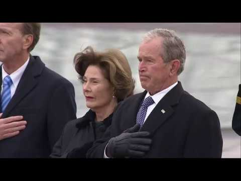 Bush casket leaves Capitol for state funeral
