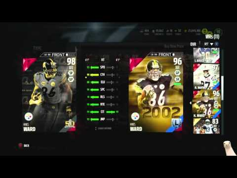 2 New Super Bowl Legends! 98 Ray Lewis! 98 Hines Ward!  ::-XBOX ONE Madden 16 Ultimate Team