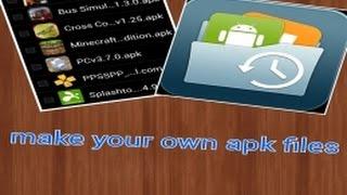 Как создать apk файл на андроид (без root)