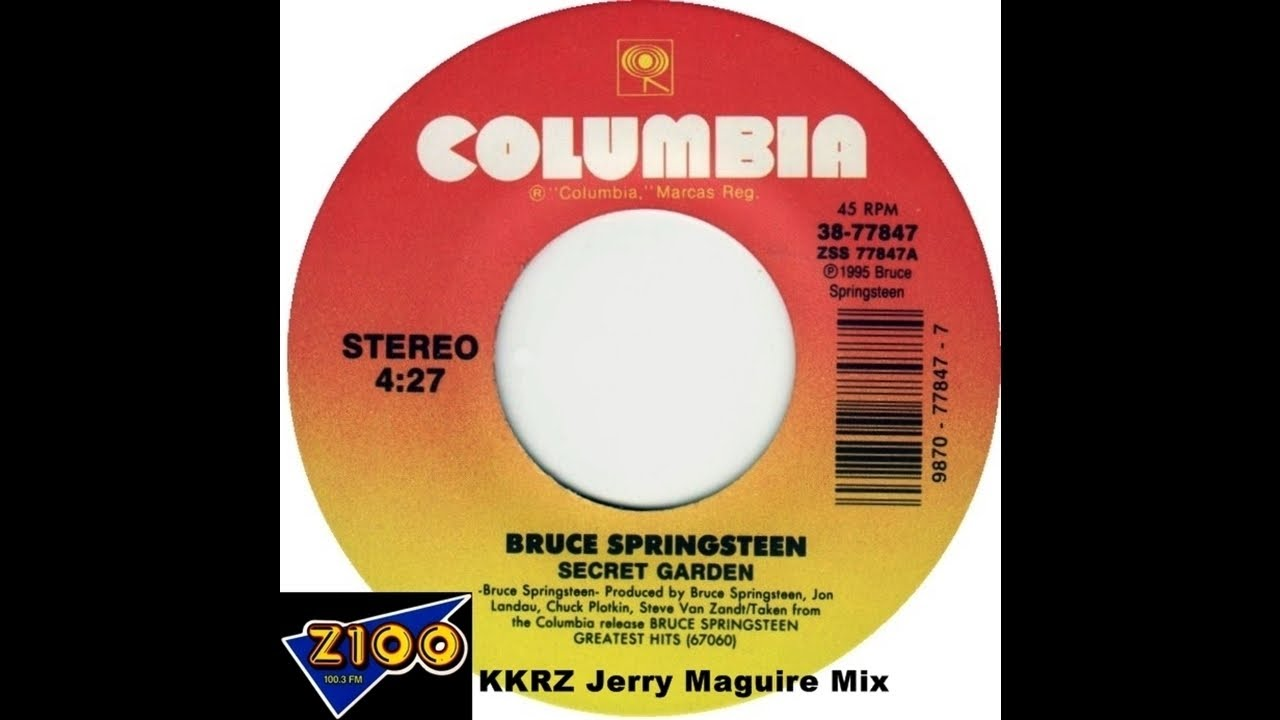 Bruce Springsteen Secret Garden Kkrz Jerry Maguire Mix Youtube
