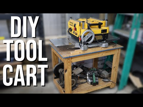 rolling-tool-cart-/-planer-stand-diy