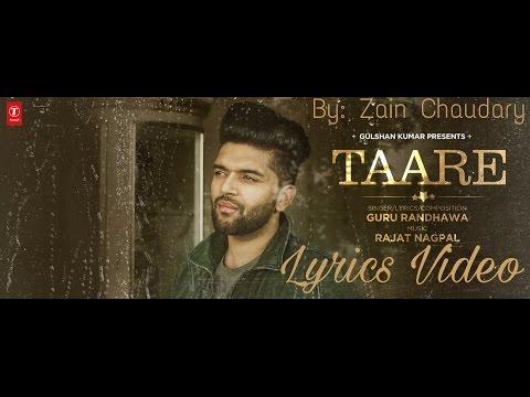 Taare Guru Randhawa Lyrics Video