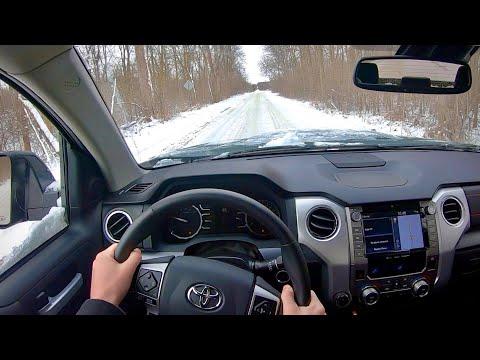 2020 Toyota Tundra TRD Pro CrewMax - Snowy POV Test Drive (Binaural Audio)