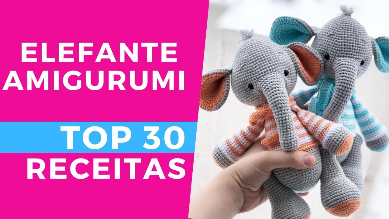 Mini Elefante Receita de Amigurumi de Crochê por Little Bear Crochets | 720x1280